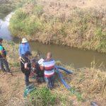 Fiscalização detecta captações irregulares de água para abastecer grandes reservatórios em fazendas de Canhoba
