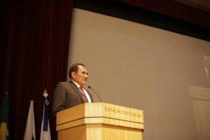 Presidente do Crea-PA, Elias Lima saúda as lideranças presentes ao lançamento da Soea