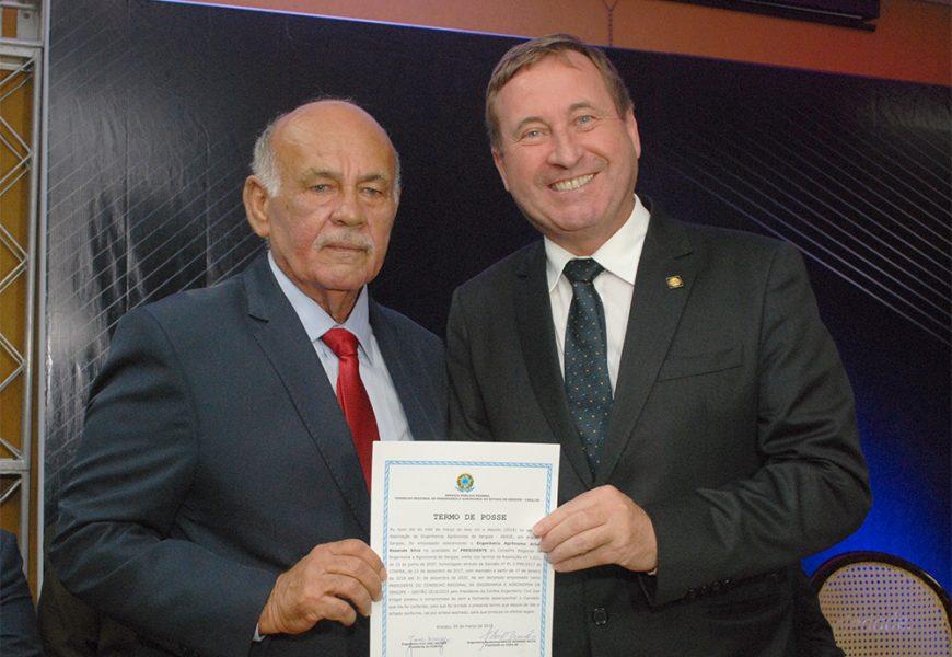 Cerimônia de posse do presidente do Crea-SE, engenheiro agrônomo Arício Resende Silva