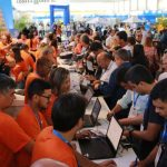 Profissionais aproveitam Soea para se inscrever no TecnoPrev: 200 novas adesões e centenas de profissionais atendidos