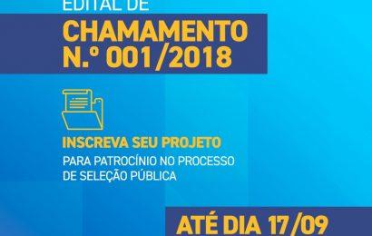 Termina na próxima segunda-feira (17) prazo para inscrição de projetos de patrocínio
