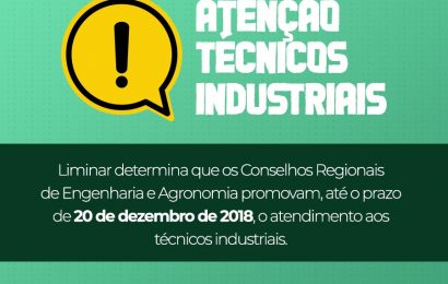 Portaria orienta Creas a promover registro de profissionais técnicos industriais
