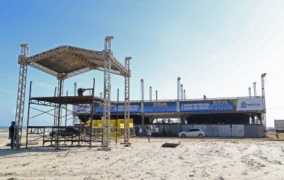 Crea-SE vistoria estrutura montada para o Réveillon na Orla da Atalaia