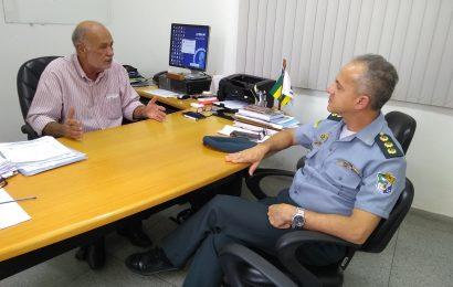 Subcomandante da Polícia Militar do Estado de Sergipe  faz visita de cortesia ao presidente do Crea-SE