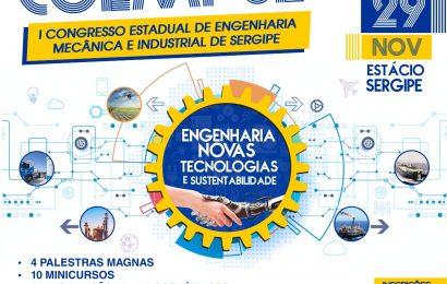 Congresso Estadual de Engenharia Mecânica e Industrial de Sergipe começa na quinta-feira