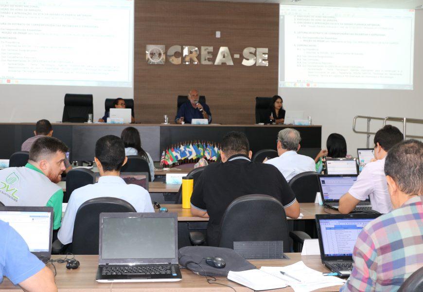 Projetos e parcerias em benefício da sociedade são destacados na 445ª Sessão Plenária do Crea-SE