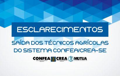 Saída dos Técnicos Agrícolas do Sistema Confea/Crea-SE