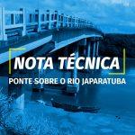 Nota Técnica: Ponte sobre o Rio Japaratuba
