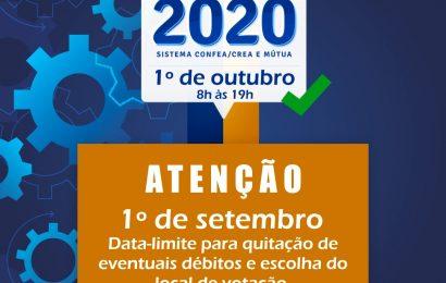 Eleições 2020: Termina em 1º de setembro o prazo para escolha do local de votação
